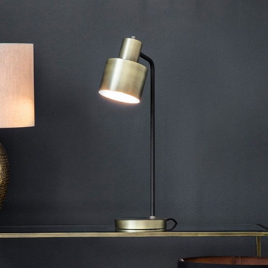 Selva Table Lamp In Brushed Brass Finish