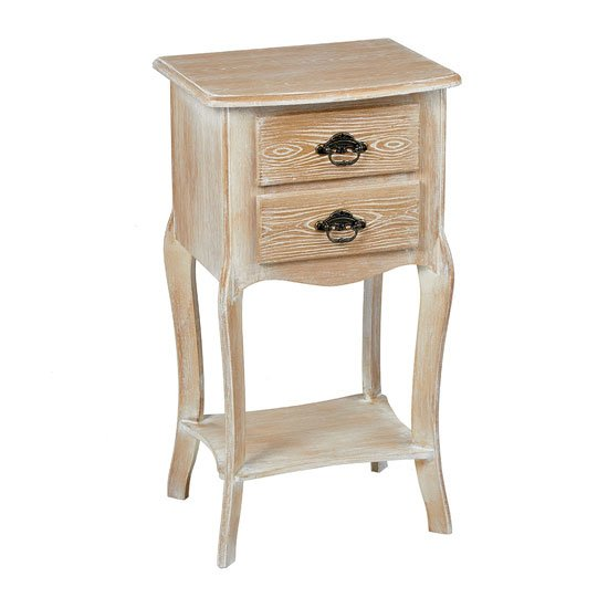 Senegal Wooden Bedside Cabinet In Weathered Oak