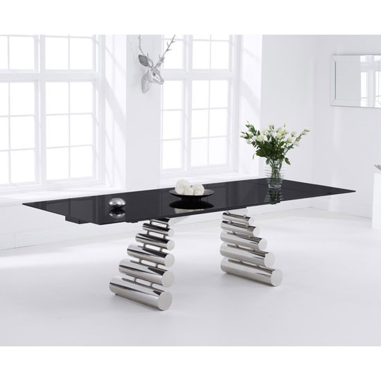 Price Search Results For Sepia Extending Dining Table In Black Glass