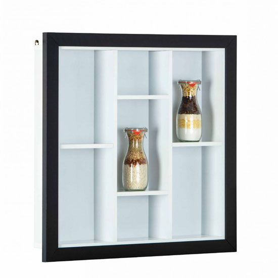 Septem Wooden Display Cabinet In Black And White