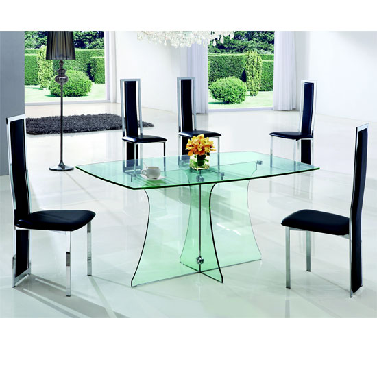 serene clr glass dining 601 - Furniture For All Occasions