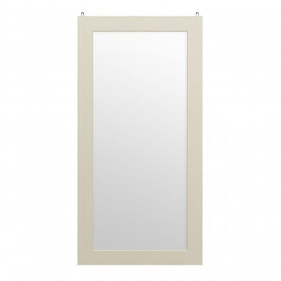Serenity Rectangular Wall Bedroom Mirror In Ivory Frame