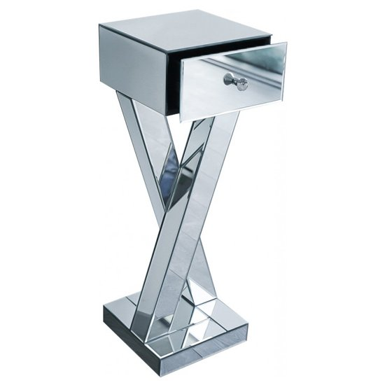Sestu Mirrored Wooden Bedside Table In Silver_3