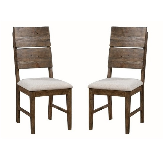 Sevilla Wooden Dining Chair In Dark Pine In A Pair