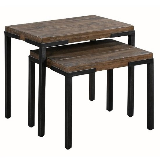 Sevilla Wooden Nest Of Tables In Dark Pine Finish_1