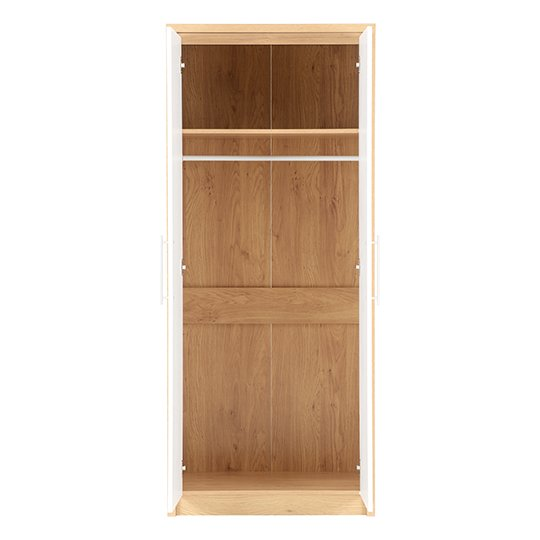Seville Wardrobe In White High Gloss With 2 Doors_2
