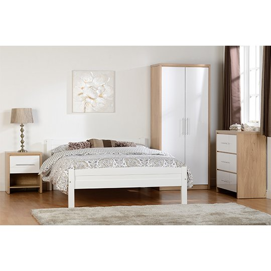Seville Wardrobe In White High Gloss With 2 Doors_4
