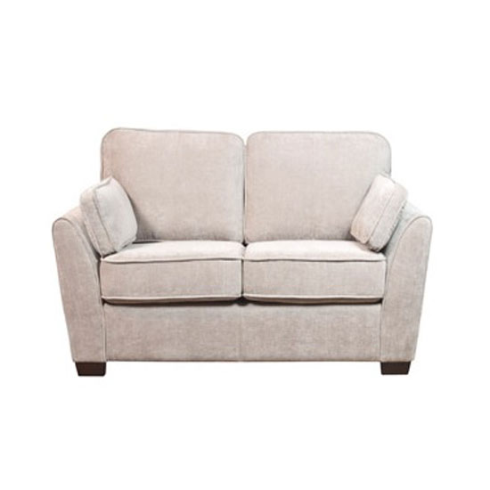 Seville Fabric 2 Seater Sofa In Mink With Dark Feet