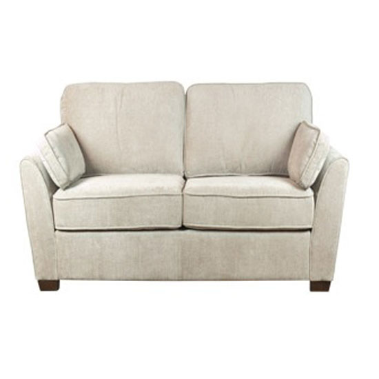 Seville Fabric 3 Seater Sofa In Mink With Dark Feet