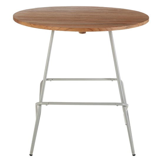 Seymour Wooden Round Dining Table With Metallic Grey Legs_3