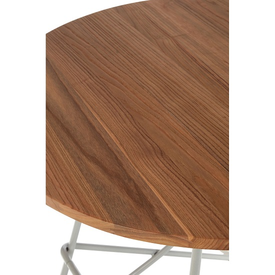 Seymour Wooden Round Dining Table With Metallic Grey Legs_4