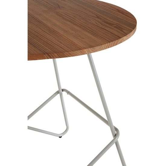 Seymour Wooden Round Dining Table With Metallic Grey Legs_5