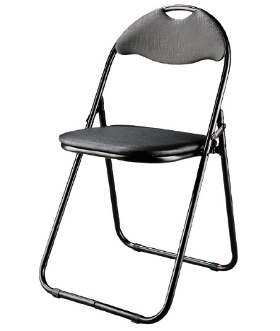 Folding Chairs on Shake Folding Chair In Aluminum Black Finish   Folding Chairs   Stools