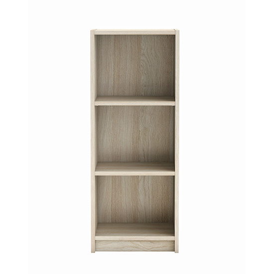 Sharatan Narrow Wooden Bookcase In Shannon Oak With 2 Shelves_2