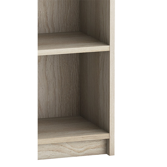 Sharatan Narrow Wooden Bookcase In Shannon Oak With 2 Shelves_3