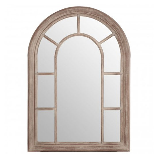 Sharia Window Design Wall Bedroom Mirror In Chinese Oak Frame