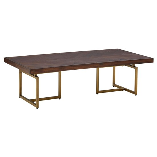 Shaula Wooden Rectangular Coffee Table In Brown