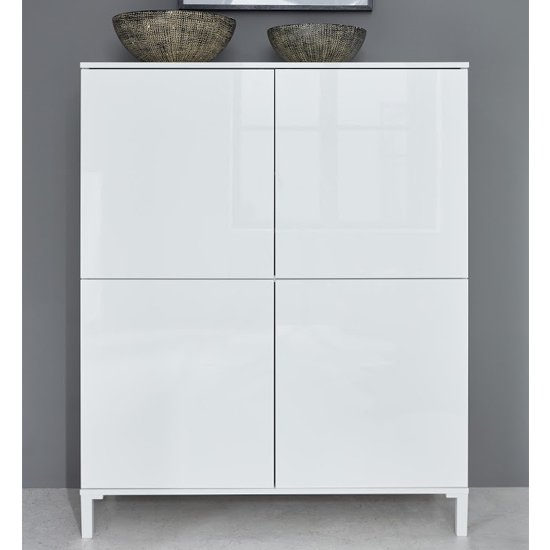 Sheldon Large Sideboard And Storage Cabinet In White High Gloss_3