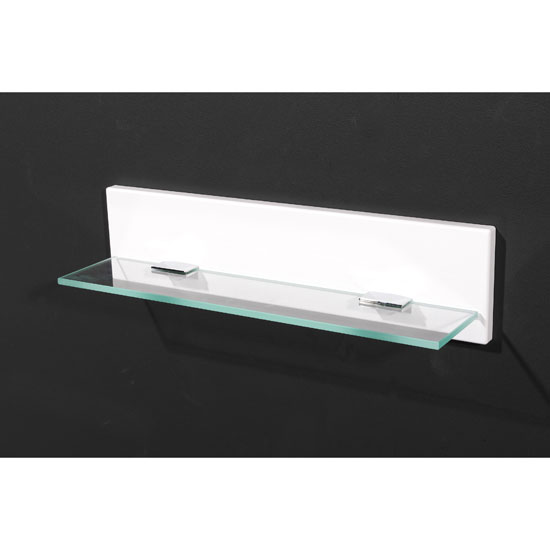Read more about Liquid high gloss small wall mounted bathroom shelf