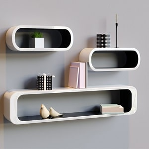 Collection of shelving units and storage for your living room in wood, glass & gloss