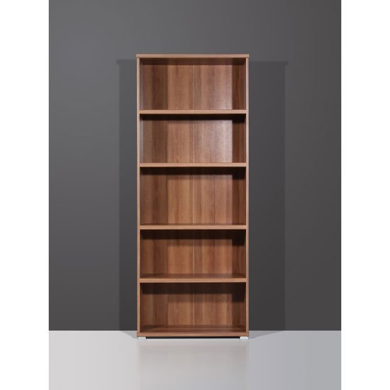 vision dark walnut narrow 5 tier shelving unit 1093 88