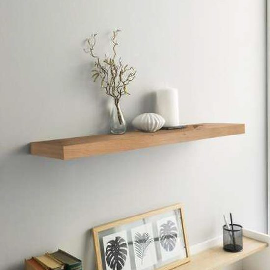 Shelvza Small Wooden Wall Shelf In Artisan Oak