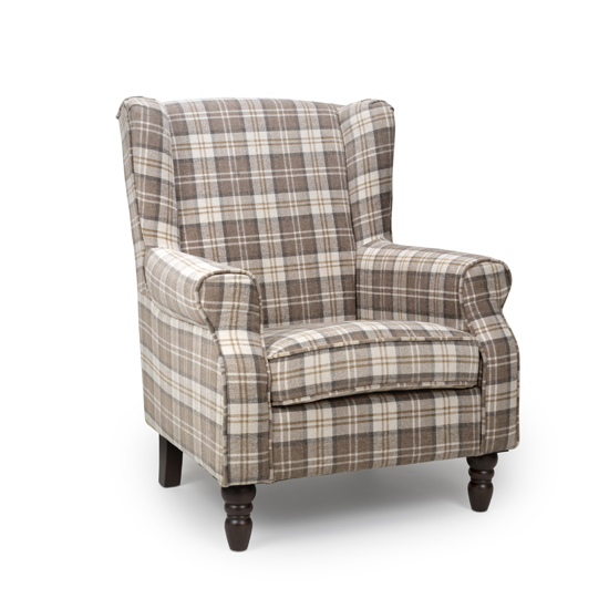 Shetland Fabric Upholstered Lounge Chair In Latte