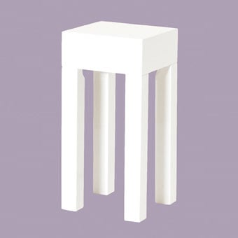 Linea Hi-Gloss White Side Tables, 51328