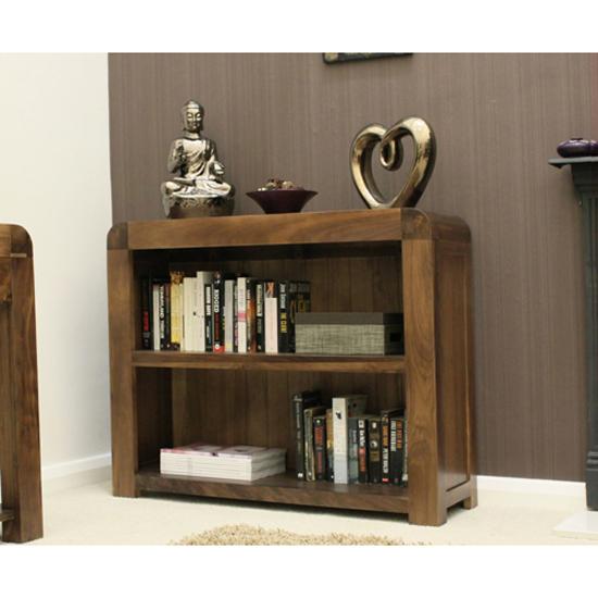 Shiva Walnut Low Bookcase