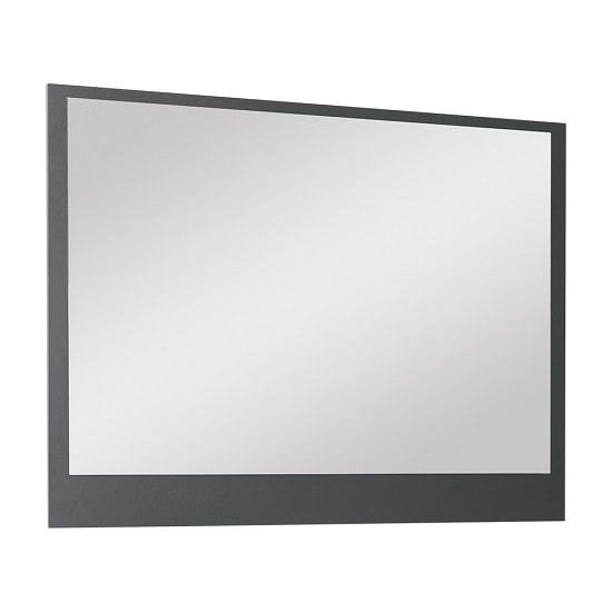Shirley Contemporary Wall Mirror In Anthracite