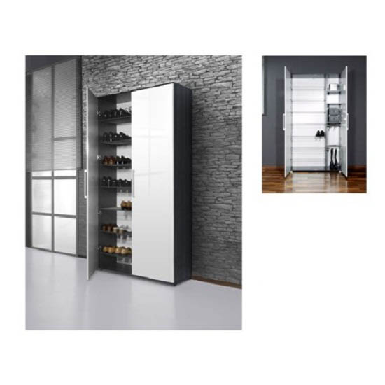 Scarpa Shoe Cupboard In White And Antracite