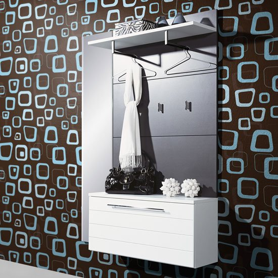 Wall Mounted White Anthracite Hallway Shoe Storage Cabinet