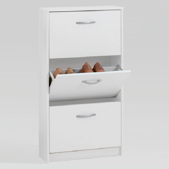 Step3 Shoe Cabinet In White With 3 Drawer