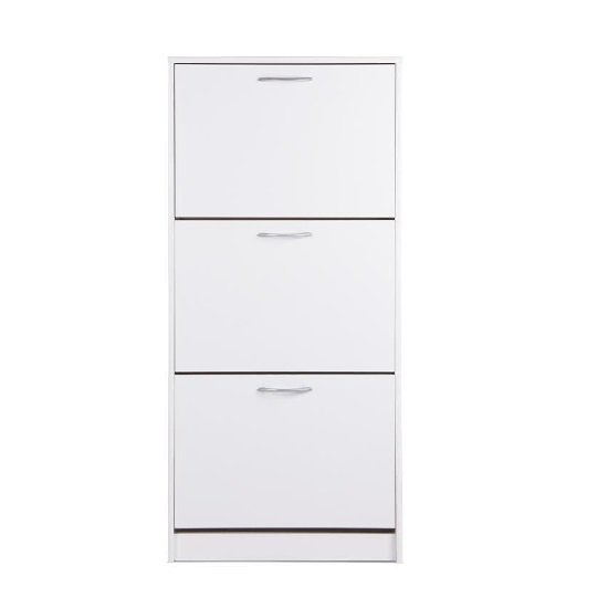 Montrose Shoe Cabinet In White With 3 Doors_1