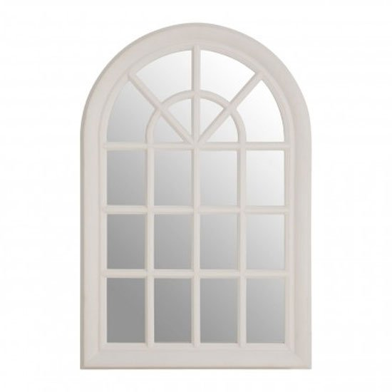 Sholas Window Design Wall Bedroom Mirror In White Frame