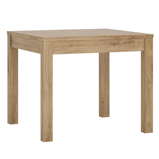Sholka Wooden Extending Dining Table In Oak