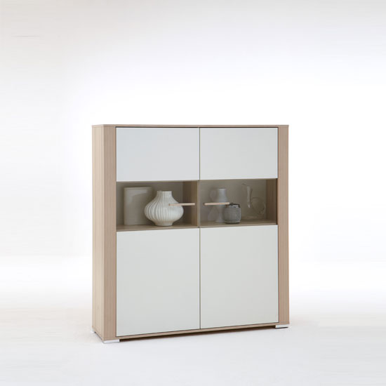 Tavola2 Ashtree White Contemporary Sideboard With 2 Doors
