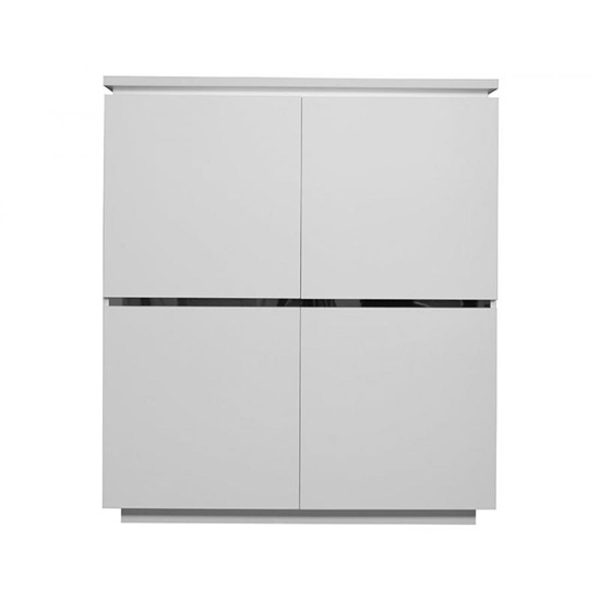 Elisa Sideboard In High Gloss White With 4 Doors