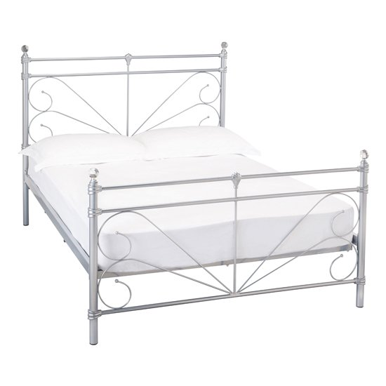 Sienna Metal King Size Bed In Silver_1