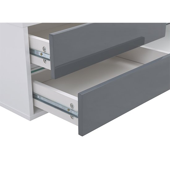 Sienna White And Grey High Gloss TV Stand With Multi LED Lights_10