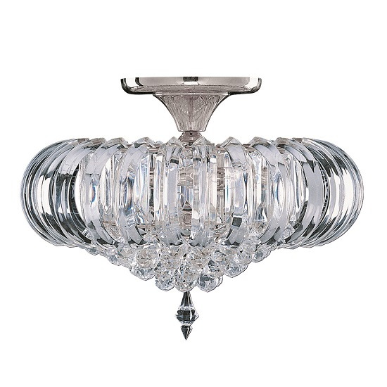 Sigma Semi Flush Oval Chandelier Ceiling Light