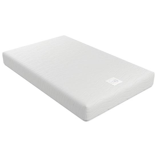 View Signature contour 8 memory form single mattress in white