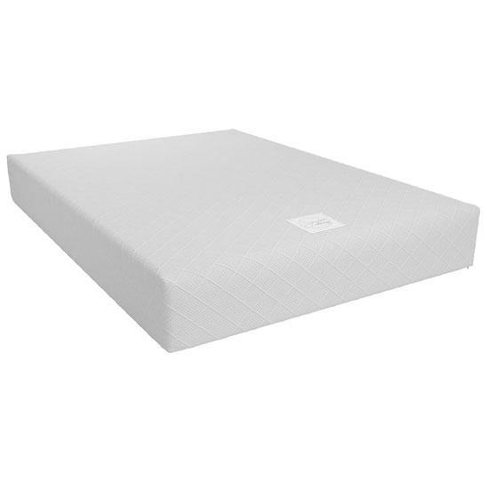 View Signature memoir 10 memory foam double mattress in white