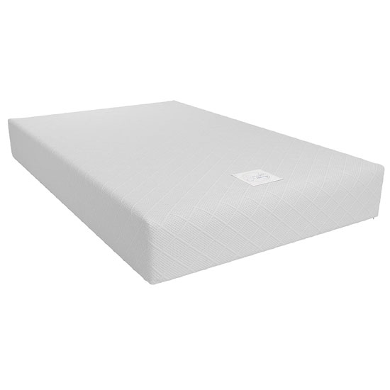 View Signature memoir 10 memory foam small double mattress in white