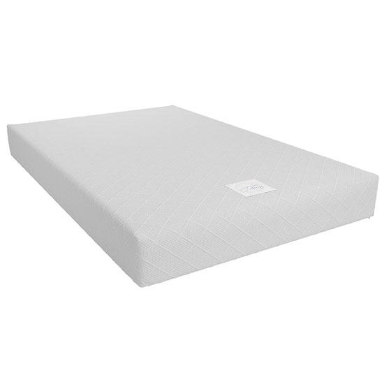 View Signature memoir 8 memory foam small double mattress in white