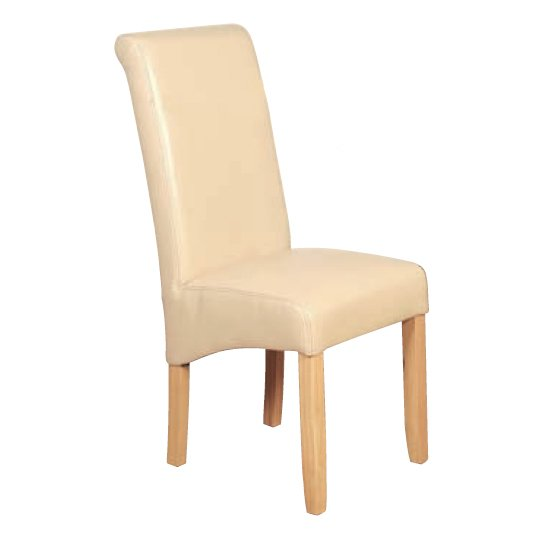 Sika Leather Air Dining Chair In Cream
