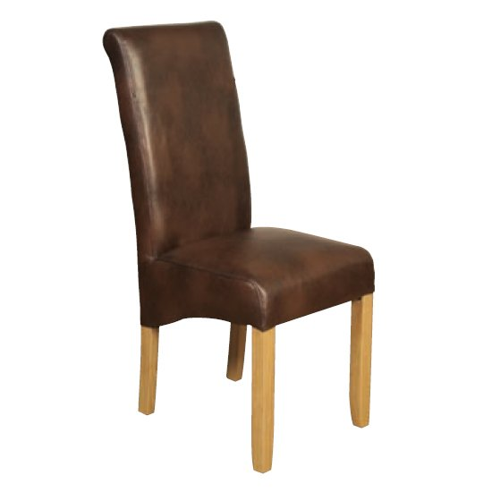 Sika Leather Air Dining Chair In Tan