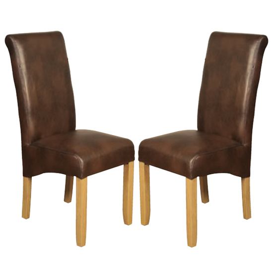 Sika Tan Leather Air Dining Chair In Pair
