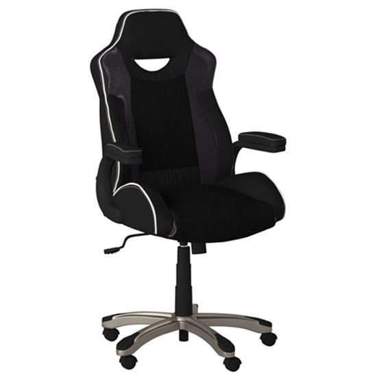 Silverstone Faux Leather Gome And Office Chair In Black_2
