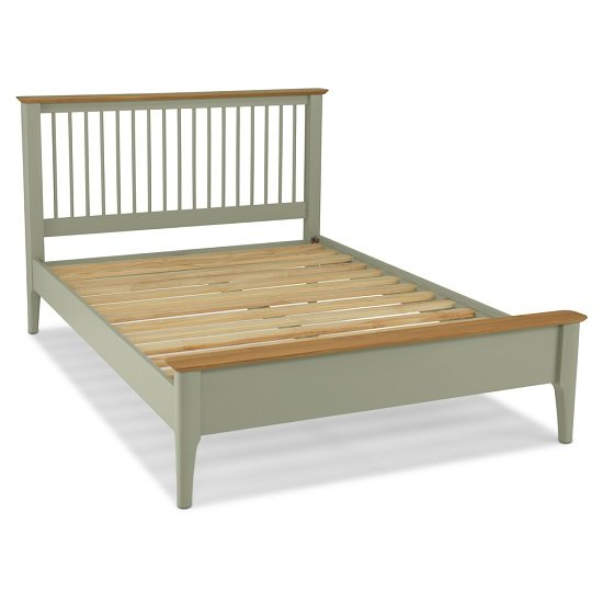 Simona Wooden Double Bed In Sage Green_2